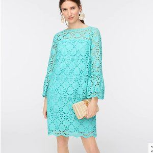 J.Crew Bell-sleeve dress in embroidered eyelet-236